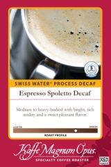Espresso Spoletto Blend SWP Decaf Coffee