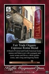 Fair Trade Organic Espresso Roma Blend Coffee